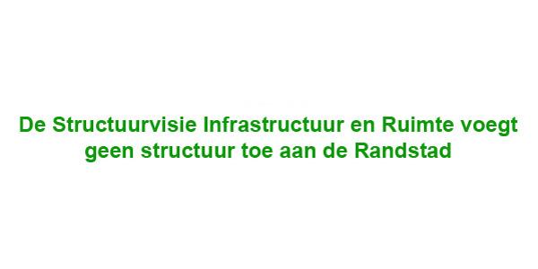 Reactie op de conceptnota Infrastructuur en Ruimte