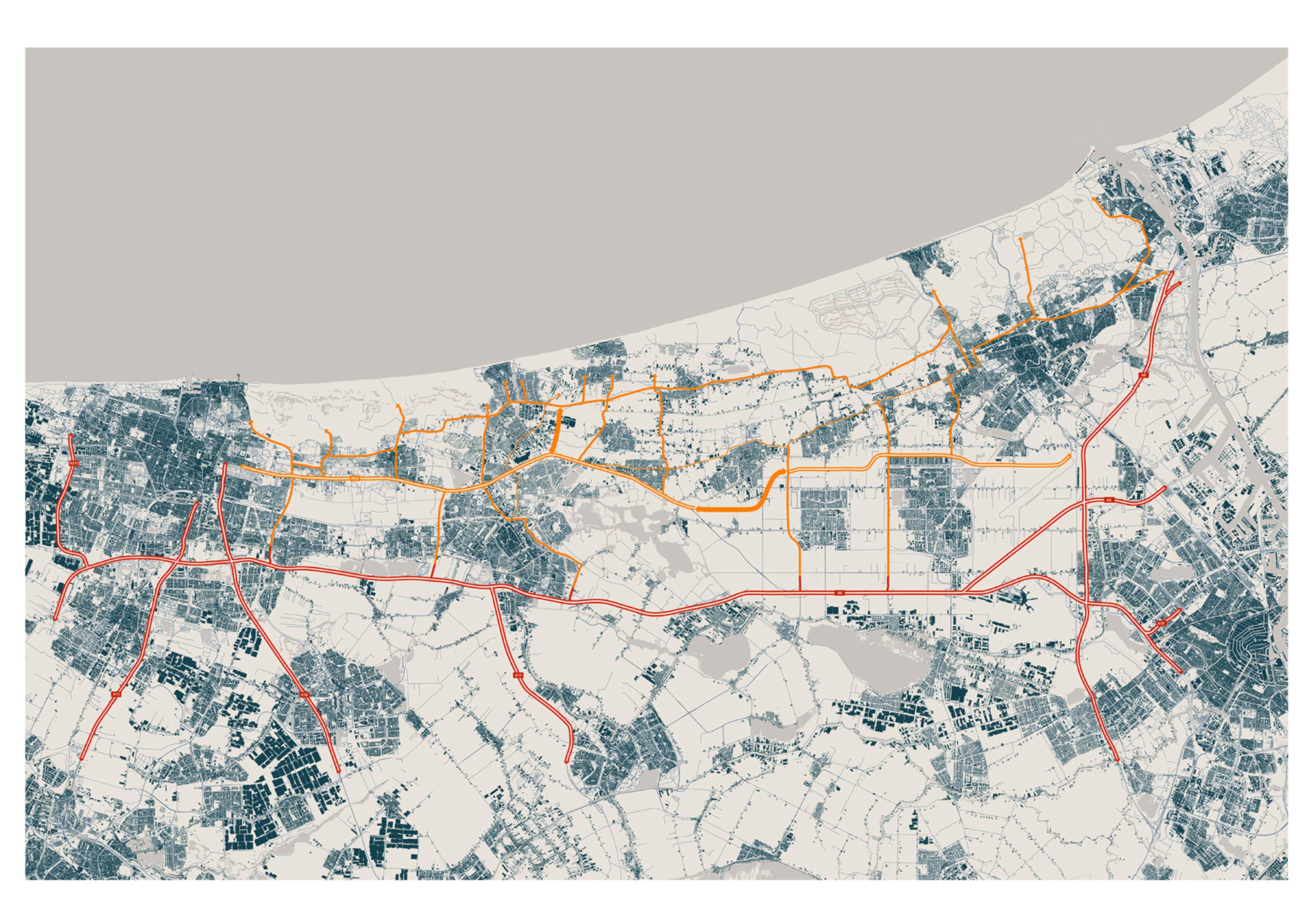 Regionale infrastructuur rond Katwijk