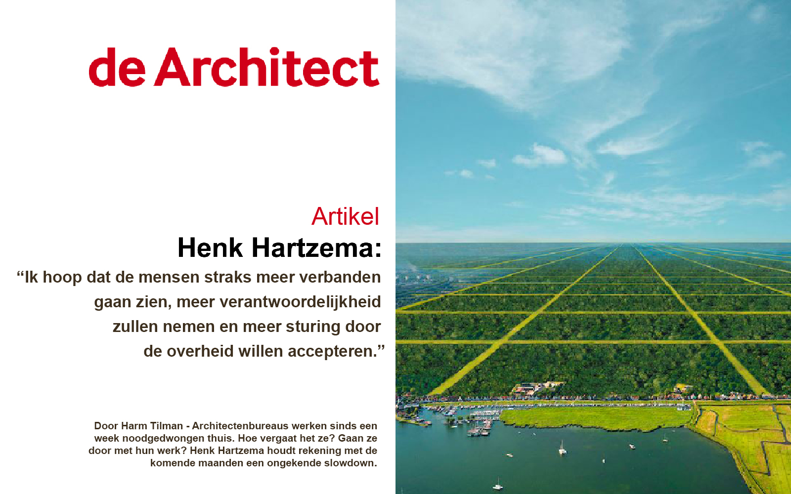 De Architect Studio Hartzema